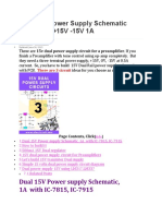 Dual 15V Power Supply Schematic With PCB