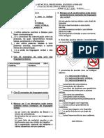 Avaliacao de Lingua Portuguesa Eja. Linguagem Verbal e Nao Verbal