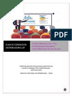 Plan de Formacion Distribuidora Lap Area Comercial