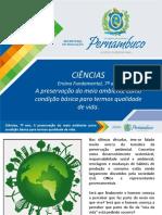 A Preservação Do Meio Ambiente Como Condição Básica Para Termos Qualidade de Vida