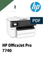 HP OfficeJet Pro 7740 Wide Format 用户指南