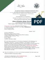 70151730000085930645 Notice of Subject Matter Jurisdiction State of Michigan