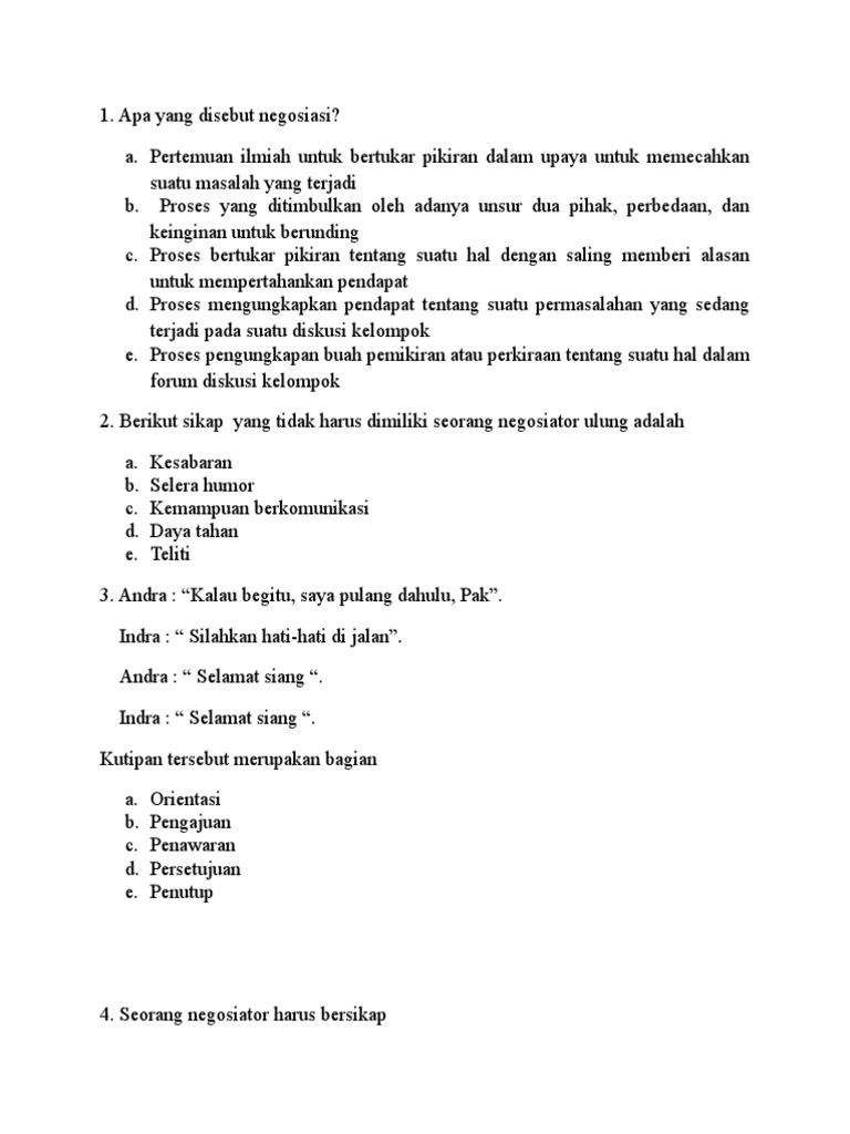 Soal Bahasa Indo X 10 Smstr 2