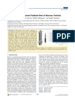 Heat Transfer in a Pulsed Fluidized Bed of Biomass Particles