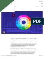 Guide to Premiere Pro Color Correction