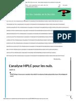 L'Analyse HPLC Pour Les Nuls. – Association Française Des Malades de La Thyroide