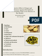 Happetoprotetive effect of ginger and cardamon