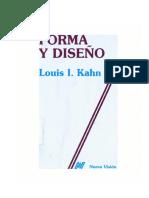 Forma y Diseño Louis Khan