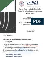 1.0 PCM - Conformação - Caract. Gerais