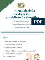 Ponencia Importancia de La Investigación y Publicacion Cientifica- Ajustado