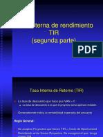 TASA INTERNA DE RENDIMIENTO-TIR-2da parte.ppt