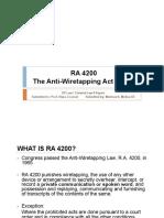 Molina - Crim Report Ra 4200 Anti-wiretapping