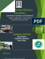 Carbono Neutro Aplicado a Fuentes Moviles en El Pais