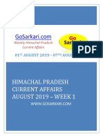 HP Current Affairs August 2019 WEEK 1