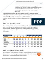Lease Classifications - When to Use Operating vs Capital Leases