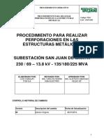 PROCEDIMIENTO PARA REALIZAR PERFORACIÓN EN ÁNGULOS, PLACAS, Y DEMÁS ELEMENTOS DE ESTRUCTURAS METÁLICAS..docx