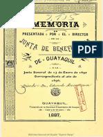 Memorias Junta de Beneficencia de Guayaquil-1896