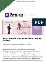 Curso Intensivo en La Protección de Derechos Sociales _ Dejusticia