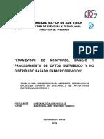 Framework de Monitoreo, Manejo y Procesamiento de Datos Distribuido