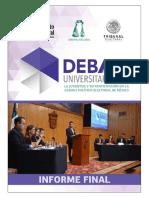 Informe Final Debates 2018