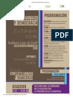 Seminario Conflicto Armado y Democracia