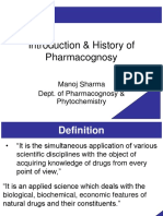 History scope and sources of pharmacognosy
