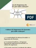 Cultura de Segurança do Paciente por onde começar_Final.ppt