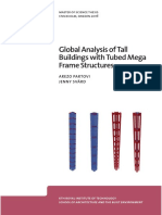 Global Analysis of Tall Buildings With Tubed Mega Frame Structures