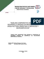 Análisis comparativo entre el desarrollo basadi eb modelos de la arquitectura orientada a servicios y microservicios