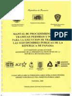 Manual de Procedimientos Servidumbre Publicas de La Republica de Panama