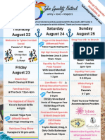 2019 Tybee Equality Fest Schedule