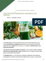 Suco de Couve_ Emagrece e Desintoxica - GreenMe.com.Br