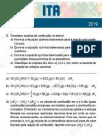 ITA 2019 - 2ª Fase - Química