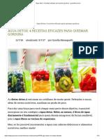 Água Detox_ 4 Receitas Eficazes Para Queimar Gordura - GreenMe.com.Br