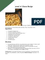 macaroni cook book