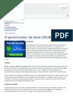 O Gerenciador de Boot GRUB