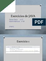 exercícios Java Agosto 2019
