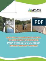 Guias para la elaboración de proyectos de riego