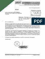 Oficio del Frente Amplio a Pedro Olaechea exigiendo priorizar debate sobre Adelanto de Elecciones y Asamblea Constituyente