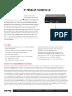 Biamp Data Sheet Parle Tcm-1 Jul19
