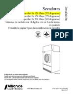 Secadora Unimac 120 Lbs