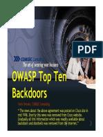 OWASP 10 Most Common Backdoors