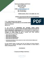 Oficio de Plaza Intendente 2019