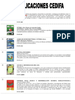 Publicaciones CEDIFA