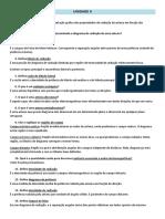 Questionário (Cap 2 Balanis e Unidade III)