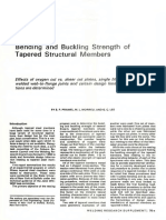 1974_Bending and Buckling Strength of Tapered Strucutral Members