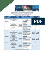Cronograma de Control y Seguridad de Sena