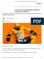 NHL 19_ Complete Controls Guide (Goalie, Offense and Defense) for Xbox One and PS4 - RealSport
