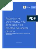 Pacto Por El Crecimiento y Para La Generación de Empleo Del Sector - Cárnico