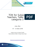 TOK for Subject Teacher